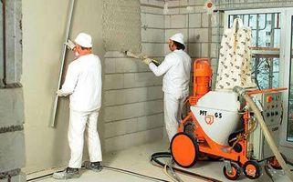 Оштукатуривание стен дома из пеноблока в Новосибирске